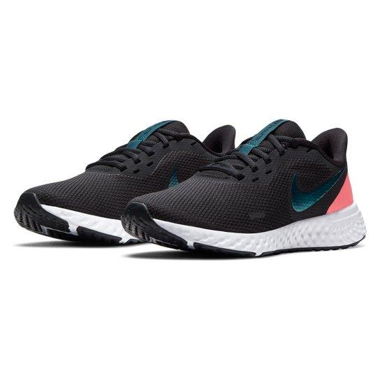 Tênis Nike Revolution 5 Feminino - Preto+Gelo