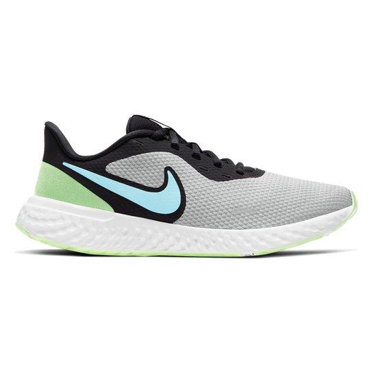 Tênis Nike Revolution 5 Feminino - Cinza+Verde