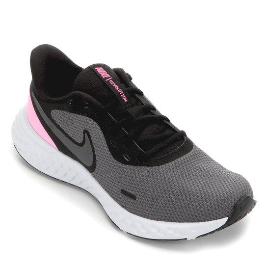 Tênis Nike Revolution 5 Feminino - Preto+Rosa