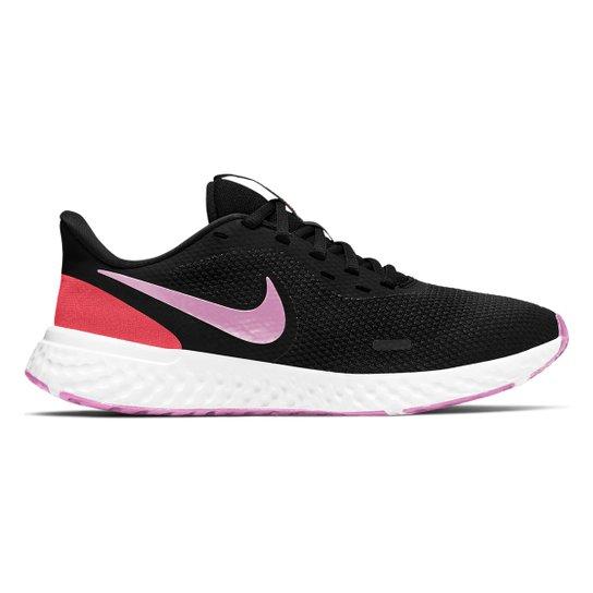Tênis Nike Revolution 5 Feminino - Preto+Pink
