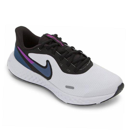 Tênis Nike Revolution 5 Feminino - Branco+Azul