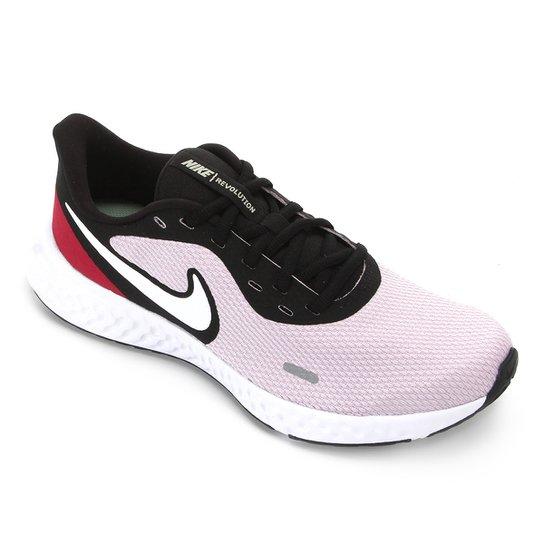 Tênis Nike Revolution 5 Feminino - Lilás+Branco