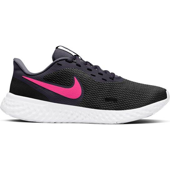 Tênis Nike Revolution 5 Feminino - Preto+Lilás