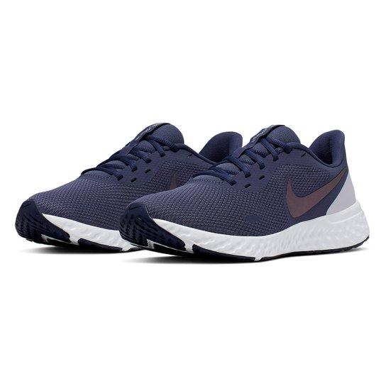 Tênis Nike Revolution 5 Feminino - Lilás+Cinza