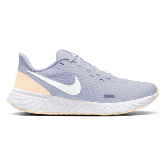 Tênis Nike Revolution 5 Feminino - Azul+Branco