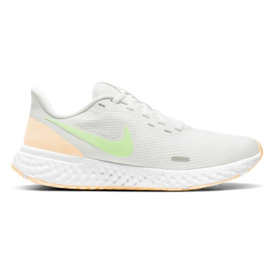Tênis Nike Revolution 5 Feminino - Branco+Amarelo
