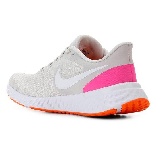 Tênis Nike Revolution 5 Feminino - Prata+Branco