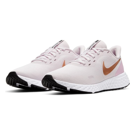 Tênis Nike Revolution 5 Feminino - Rosa Claro