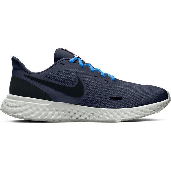 Tênis Nike Revolution 5 Masculino - Azul+Preto