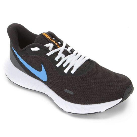 Tênis Nike Revolution 5 Masculino - Preto+Azul