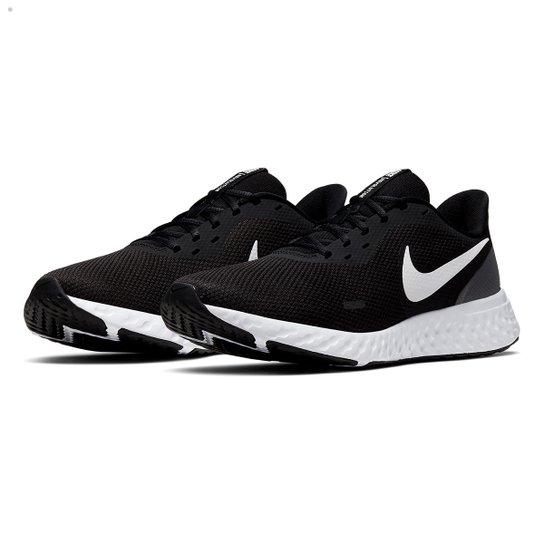 Tênis Nike Revolution 5 Masculino - Preto+Branco