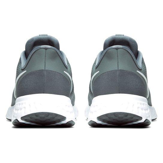 Tênis Nike Revolution 5 Masculino - Cinza+Branco
