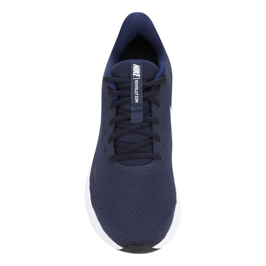 Tênis Nike Revolution 5 Masculino - Marinho+Branco