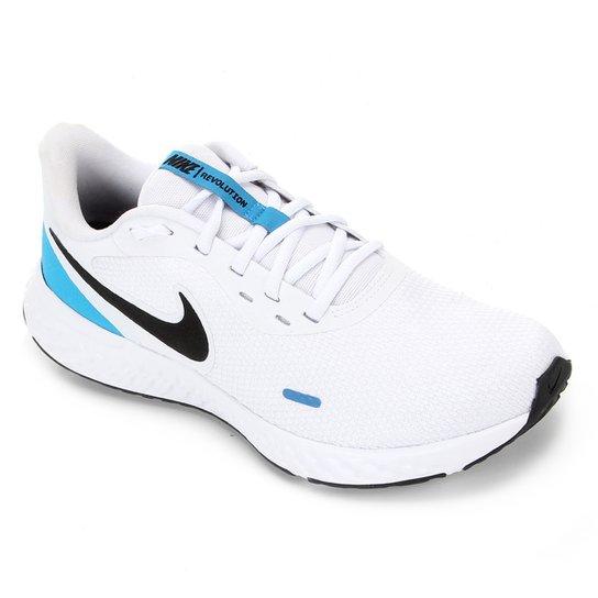 Tênis Nike Revolution 5 Masculino - Branco+Azul