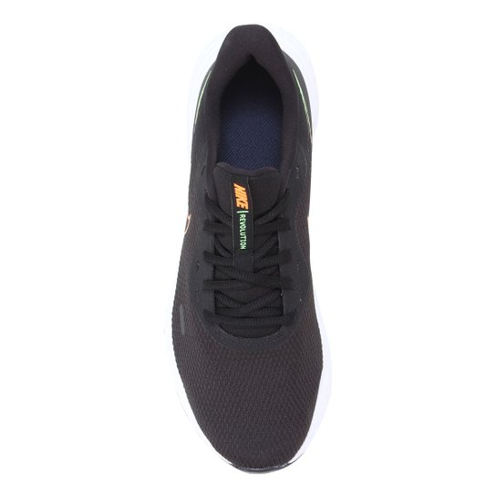 Tênis Nike Revolution 5 Masculino - Preto+Laranja