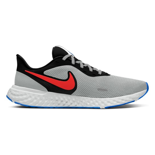 Tênis Nike Revolution 5 Masculino - Preto+Chumbo