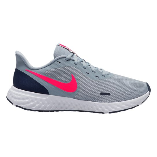 Tênis Nike Revolution 5 Masculino - Cinza+Rosa