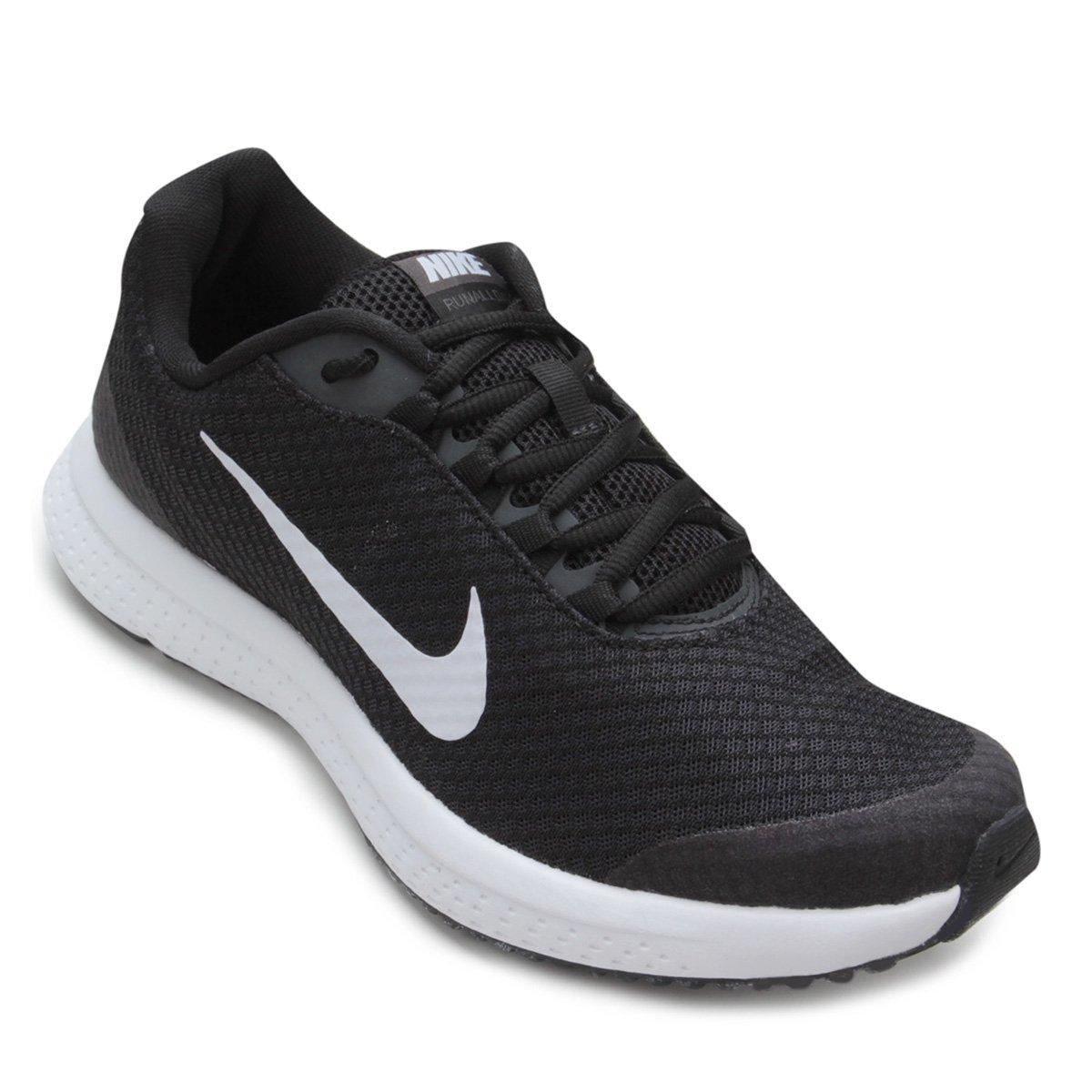 b396d3967946b Tênis Nike Runallday Feminino - Preto e Cinza - Compre Agora