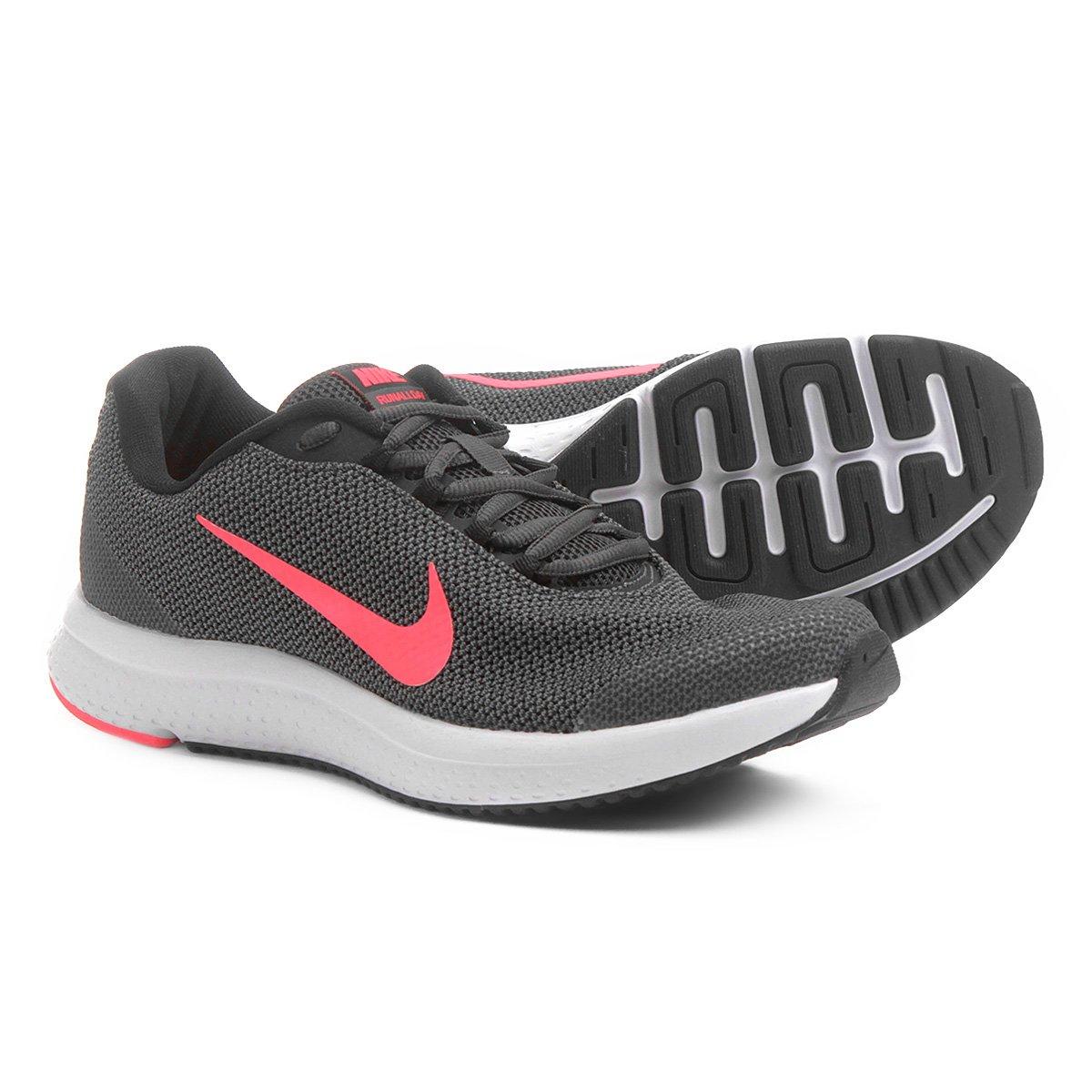 Tênis Nike Runallday Feminino Cinza E Pink