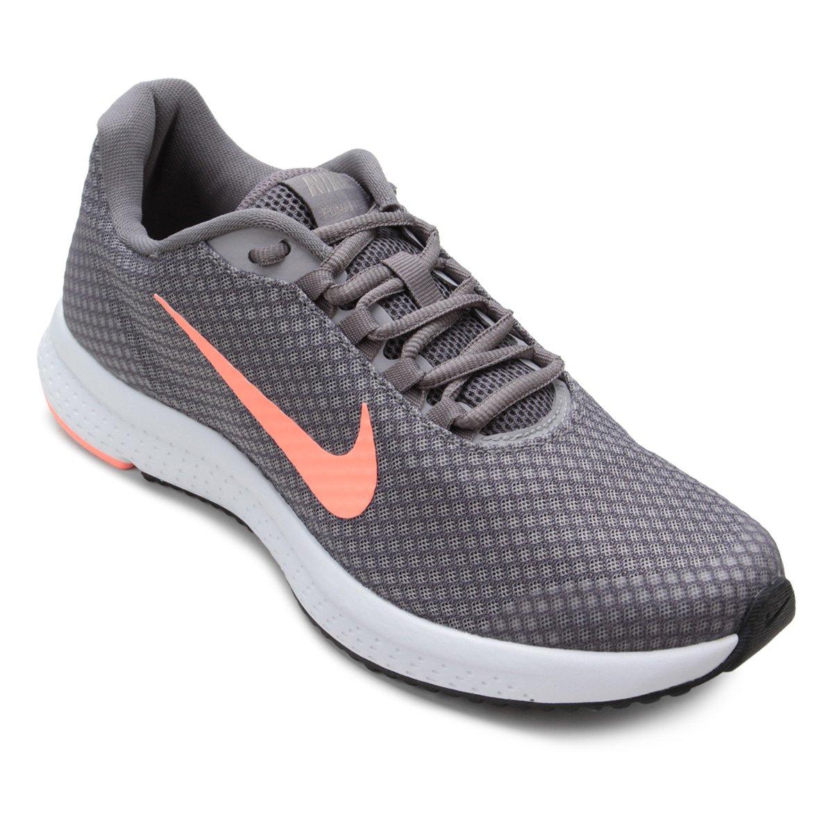 Tênis Nike Runallday Feminino Cinza E Salmão