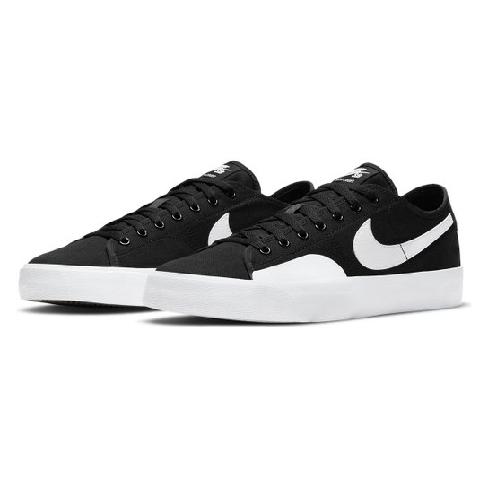 Tênis Nike Sb Blazer Court - Preto+Branco