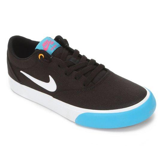 Tênis Nike SB Charge Canvas - Preto+Azul