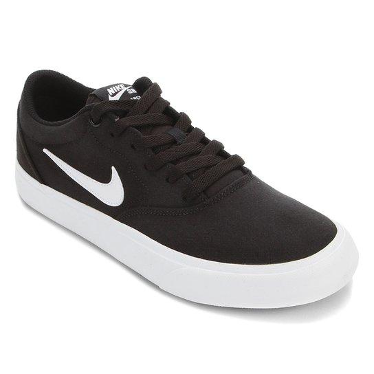 Tênis Nike SB Charge Canvas - Preto+Branco