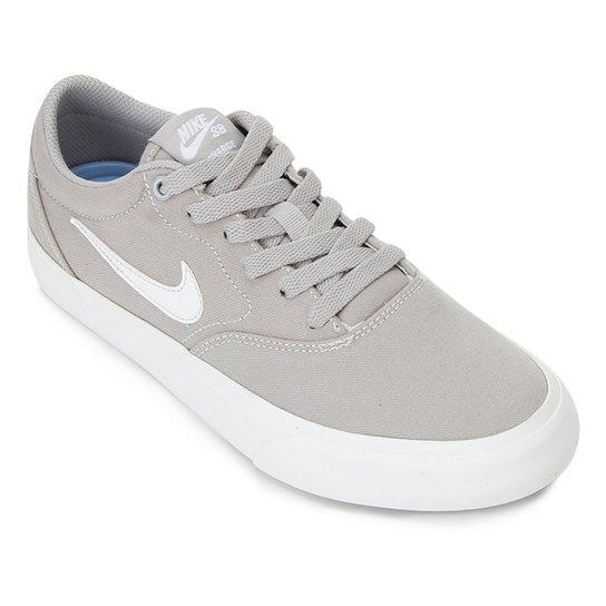Tênis Nike SB Charge Canvas - Cinza+Branco