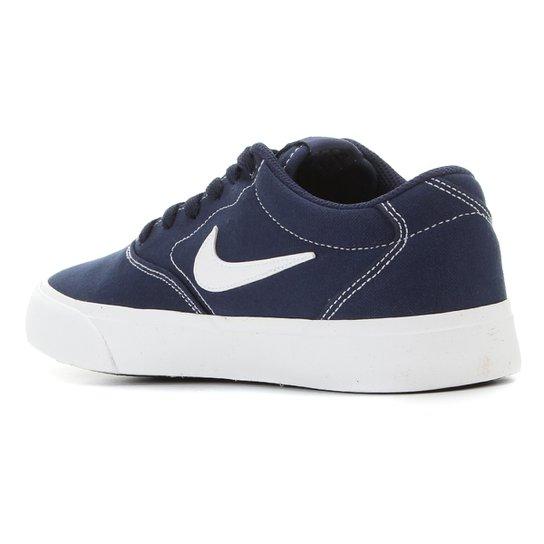 Tênis Nike SB Charge Canvas - Marinho+Branco