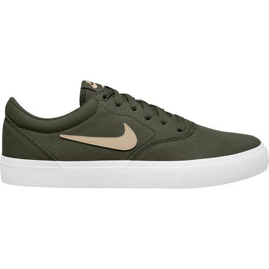 Tênis Nike SB Charge Canvas - Verde escuro+Branco