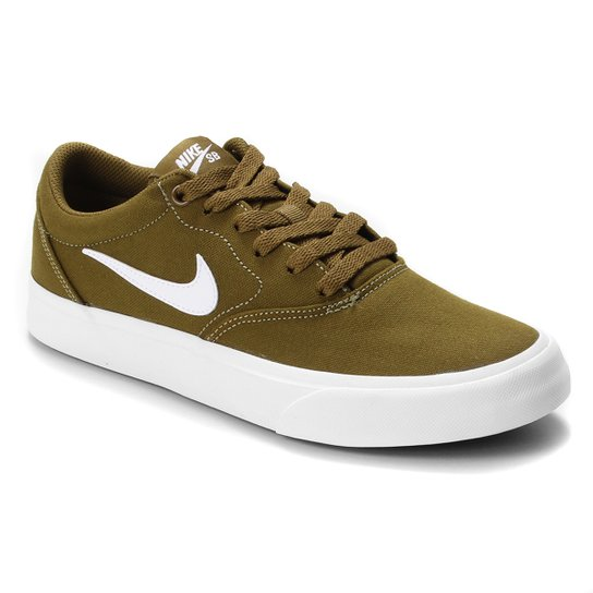 Tênis Nike SB Charge Canvas - Dourado+Branco