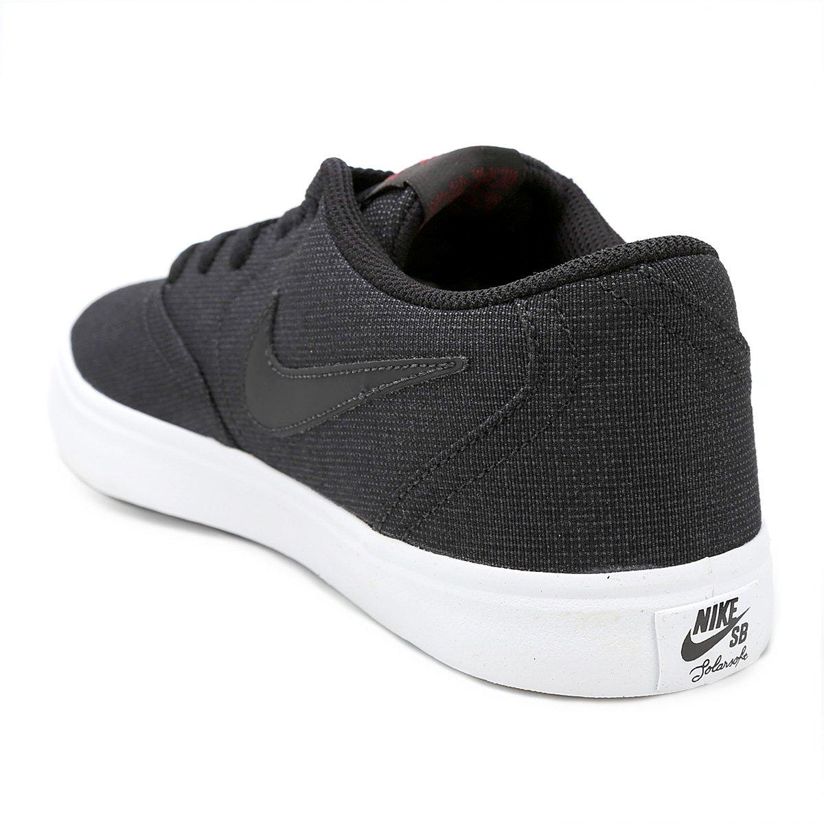 981d473f8c Tênis Nike Sb Check Solar Cnvs Masculino - Preto e Vermelho - Compre ...