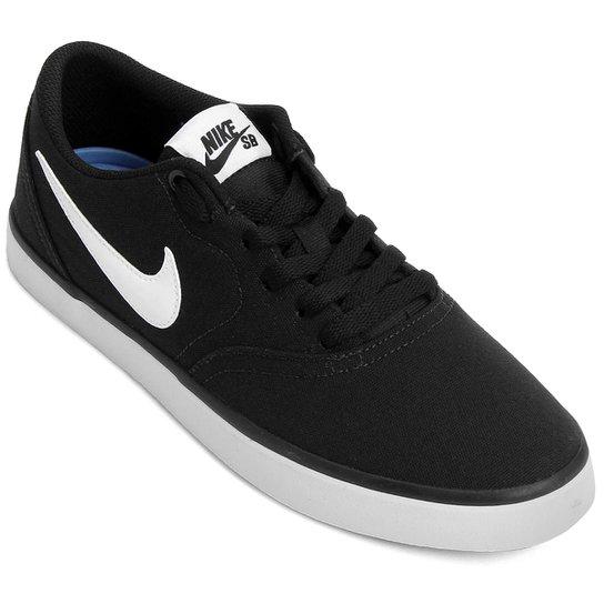 Tênis Nike Sb Check Solar Cnvs Masculino - Preto+Branco