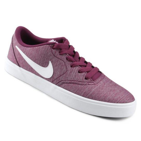 Tênis Nike SB Check Solar Cvs P Feminino - Vinho+Branco