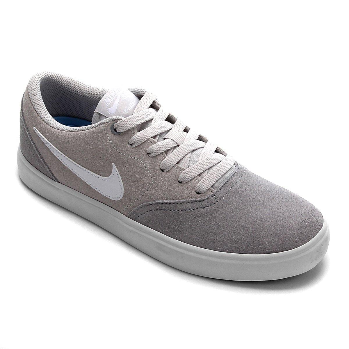 nice shoes shopping cost charm Tênis Nike SB Check Solar Feminino - Cinza e Preto