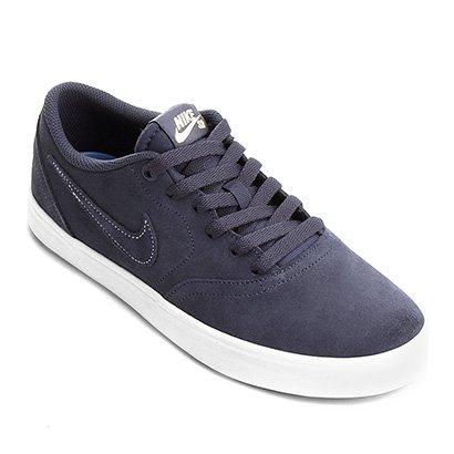 0535c1054 Tênis Nike Sb Check Solar Masculino - Branco e Azul - Compre Agora ...