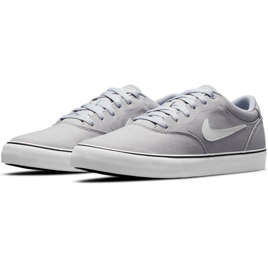 Tênis Nike SB Chron 2 Canvas - Cinza+Branco