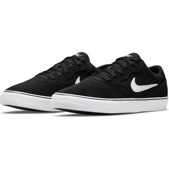 Tênis Nike SB Chron 2 - Preto+Branco