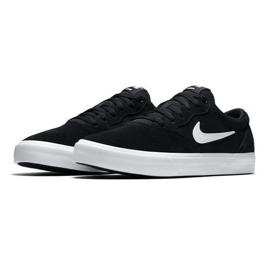 Tenis Nike SB Chron Solarsoft - Preto+Branco