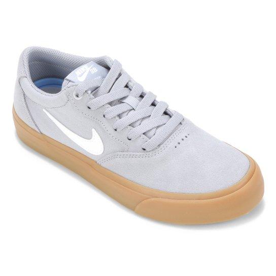 Tenis Nike SB Chron Solarsoft - Cinza+Branco