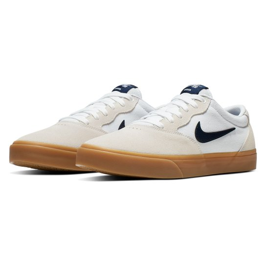 Tenis Nike SB Chron Solarsoft - Branco+Marinho