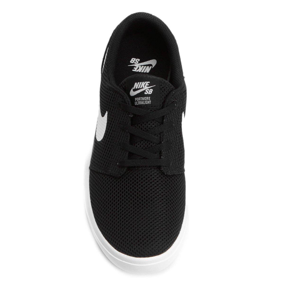 Tênis Nike SB Portmore II Ultralight Masculino - Preto e Branco ... d1c84a607bad5