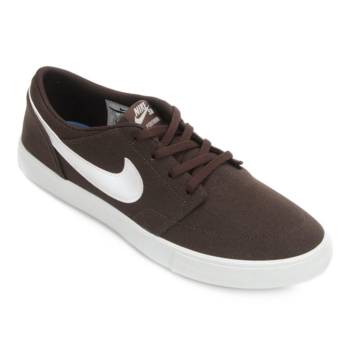 d9c0c135e8 Tênis Nike Sb Portmore Solar Masculino - Branco e Cinza - Compre ...