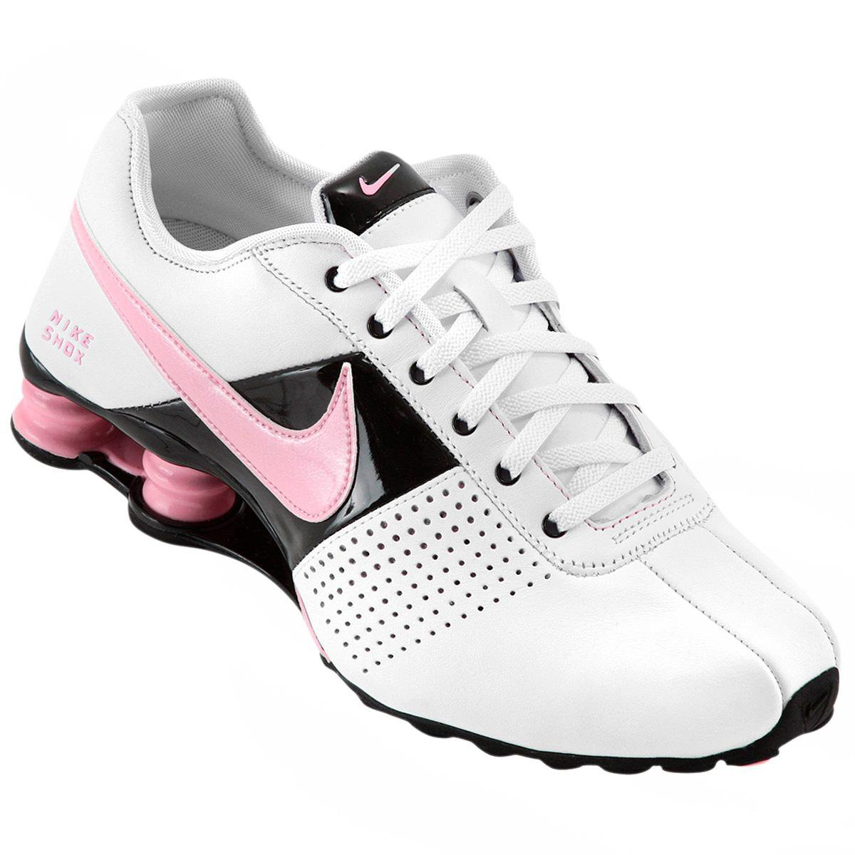 first rate 9d220 7a562 Tênis Nike Shox Deliver - Branco e Rosa . ...