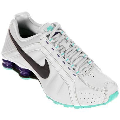 95a4c6f53dc2 ... Tênis Nike Shox Junior - Branco e Preto ...