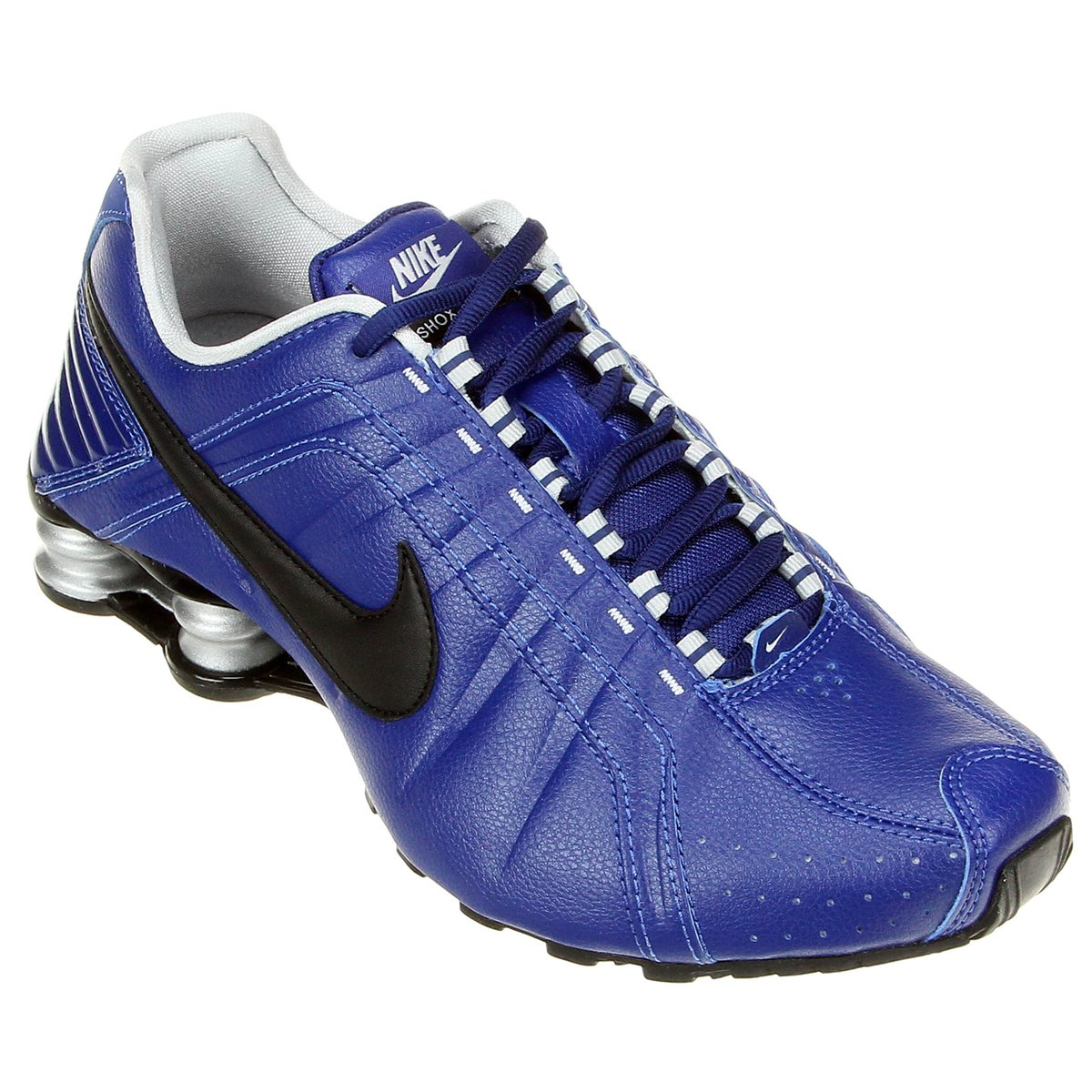 6890408135e ... usa tênis nike shox junior azul escuro 29a42 d2a11