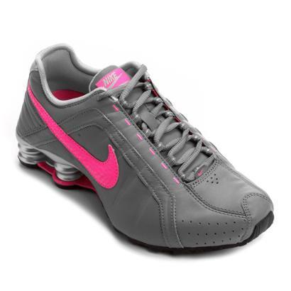 dadd0cc2e28 ... best price tênis nike shox junior cinza e rosa bf3be 62065