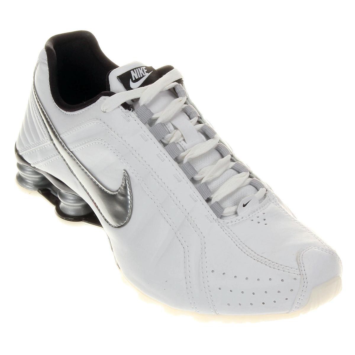 7fe2b47384d ... free shipping o produto tênis nike shox junior prata e branco acabou.  ce6da 17fbd