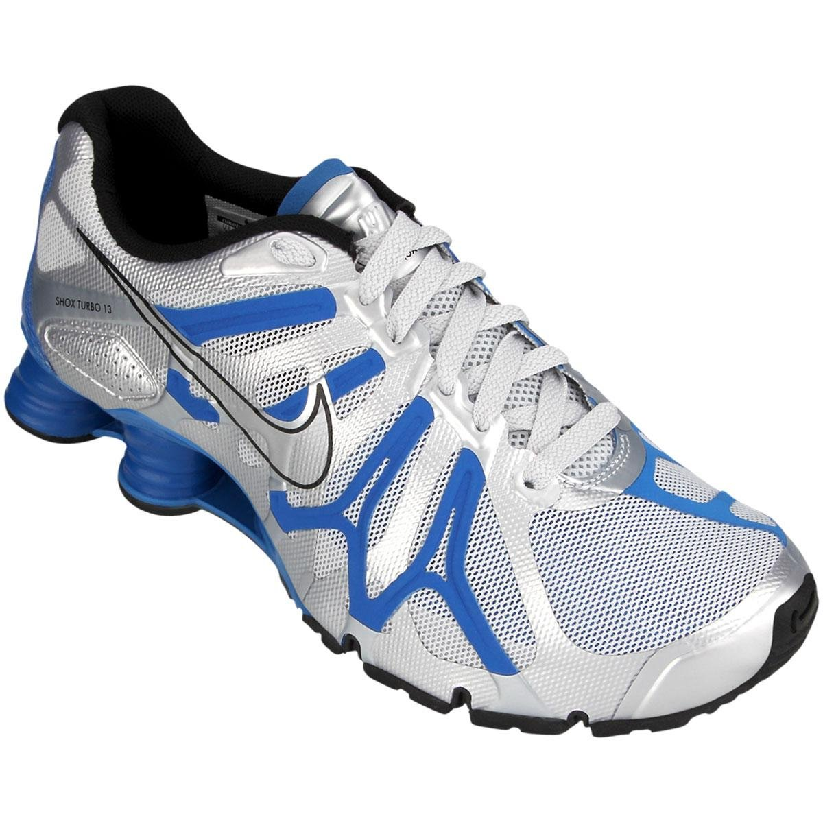 brand new 4bdbc b67d8 Tênis Nike Shox Turbo+ 13 - Prata e Azul ...