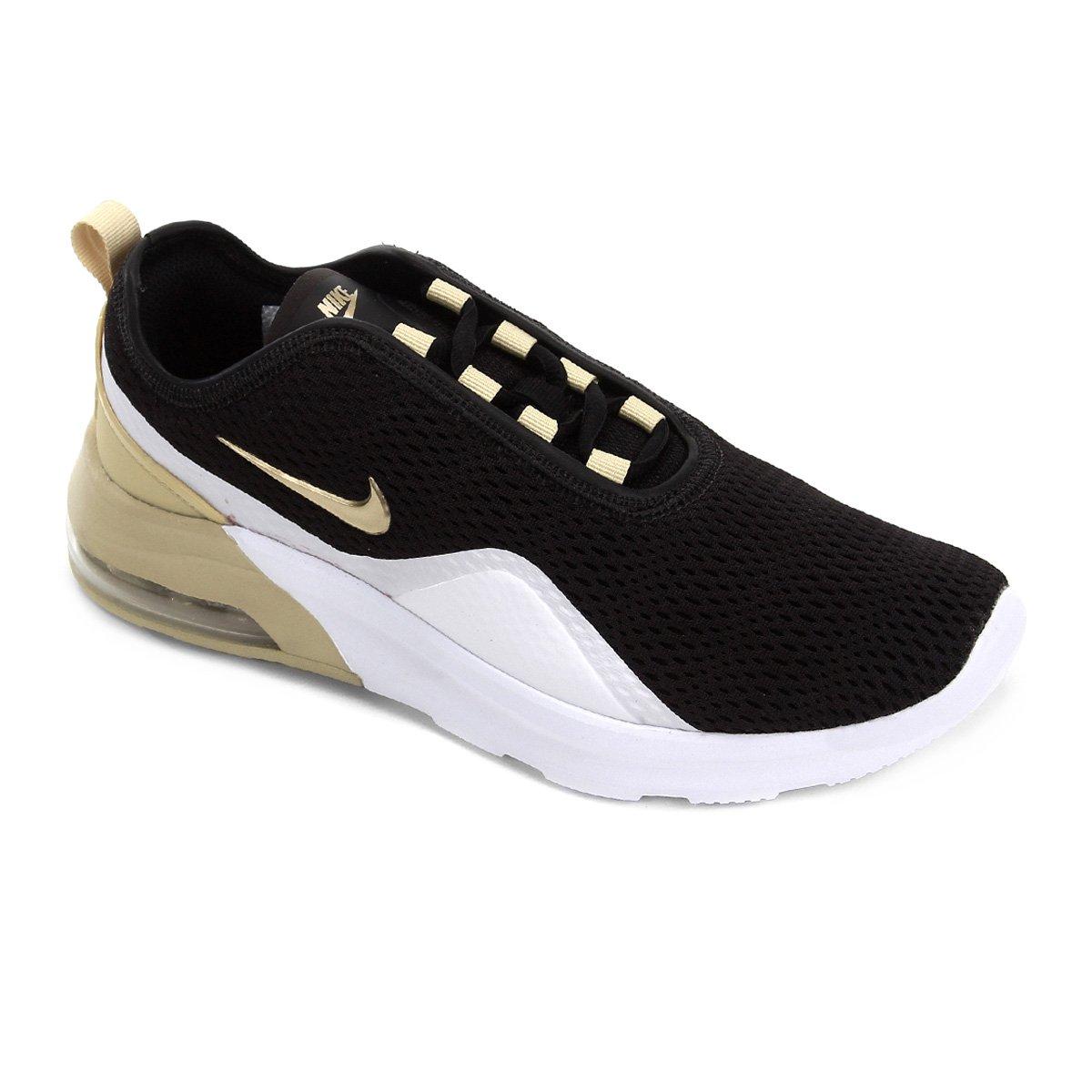 Tênis Nike Wmns Air Max Motion Feminino Preto E Dourado